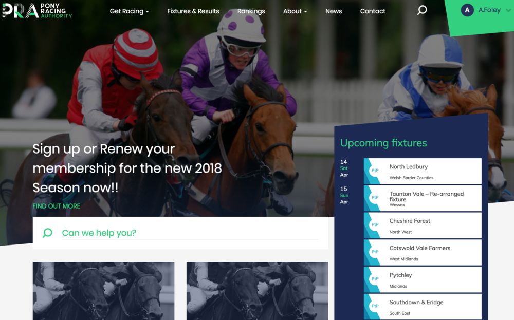 The Pony Racing Authority - A Large scale build with an active community requiring up to the minute information while providing solid system architecture