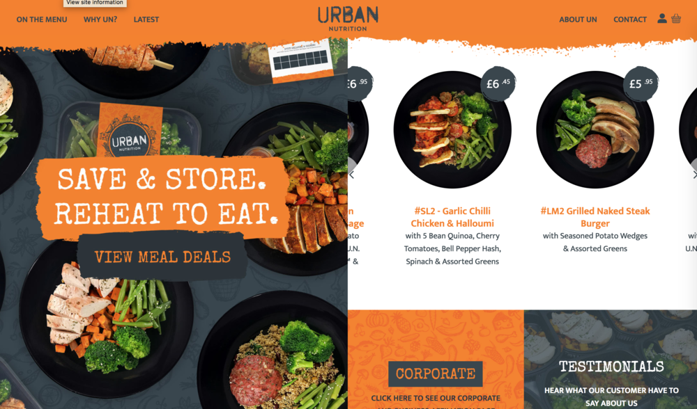 Urban Nutrition - Launching a new brand can be difficult and having the right website can be make or break for your new business