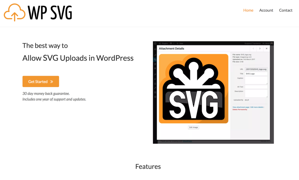 WP SVG    - WP SVG is a WordPress plugin that allows users to simply and safely upload svgs. User security is always at the forefront of everything we do and being able to use SVG's properly is deeply important. SVG's are markup this can lead to malicious code being added to a website so they need to be handled correctly. This plugin currently has over 20,000+ WordPress installs.