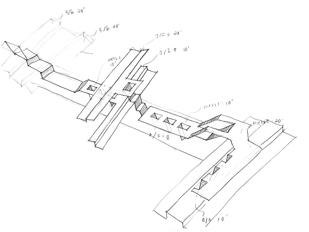 Fulton Street Station Sketch 1