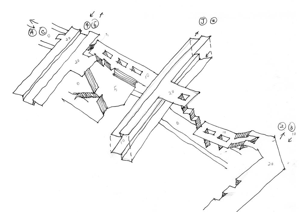 Fulton Street Station Sketch 2