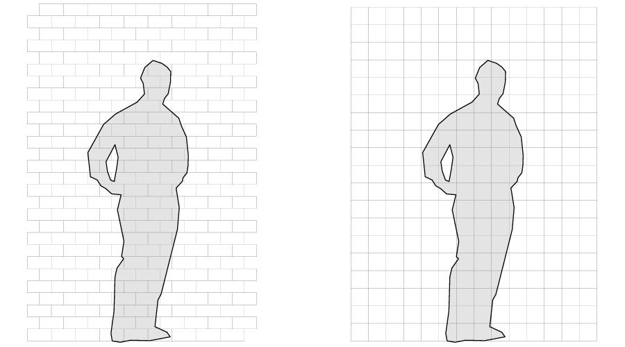 """6"""" x 3"""" rectangular vs. 4 3/8"""" square subway tile"""