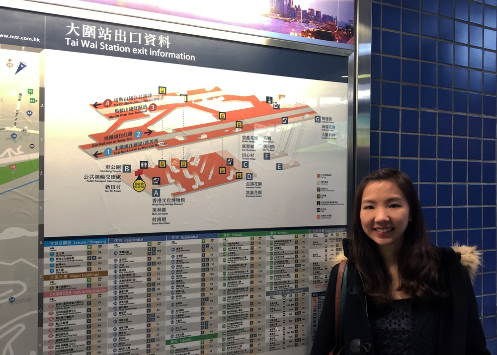 Me next to the Tai Wai station map