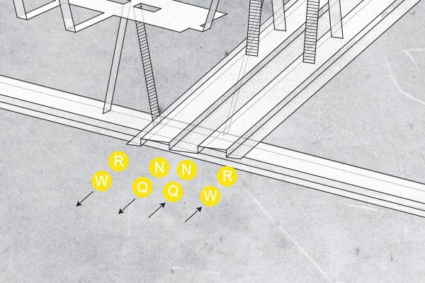 Times Square N / Q / R / W lines