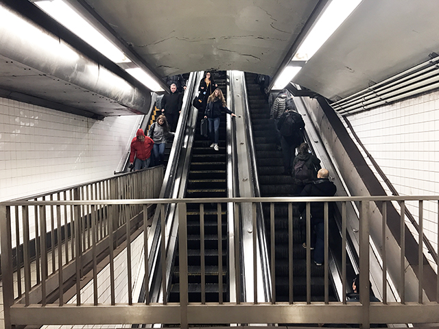 Giant Escalator in 53rd Street - Lexington Avenue Station