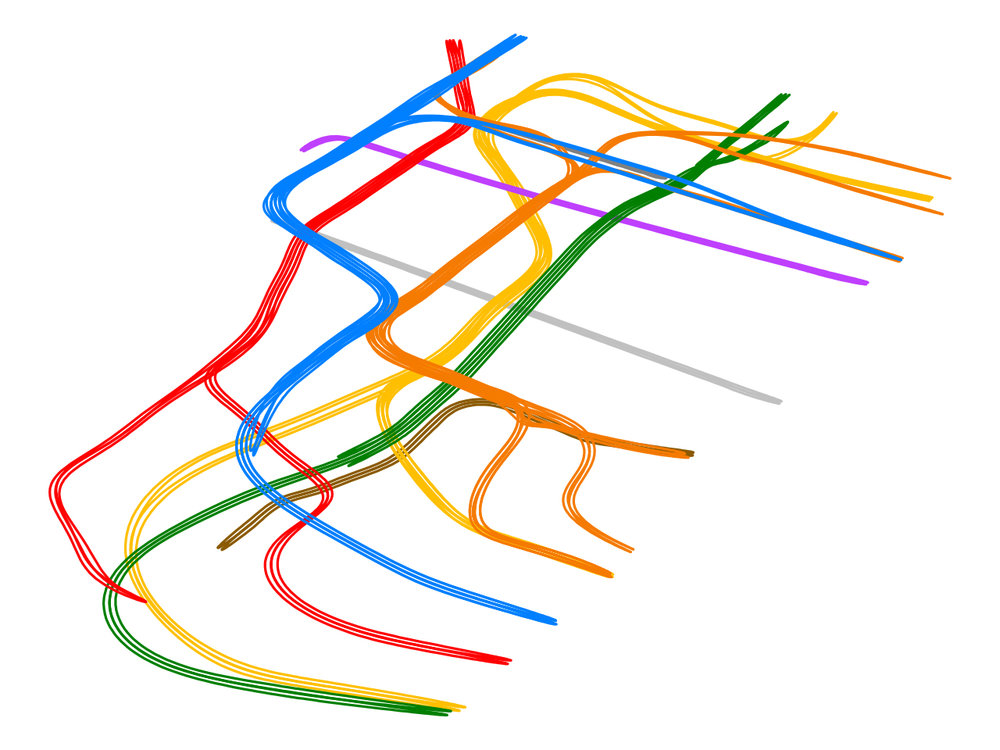 3D Track Map Sketch of the lower half of Manhattan