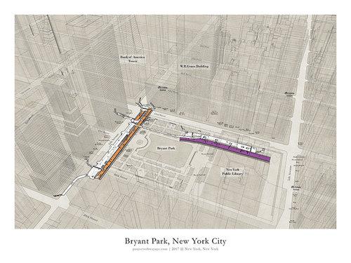 Bryant Park Subway Map.Poster 42 Bp X Project Subway Nyc