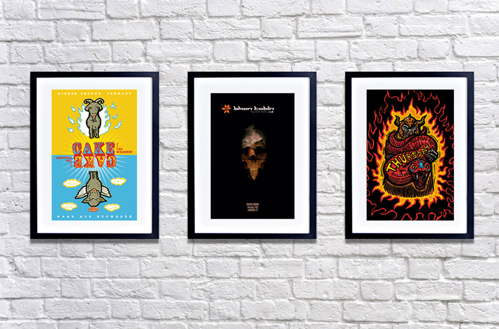 HIgher Ground Gig Posters