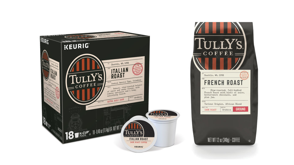 Tully's Coffee rebrand