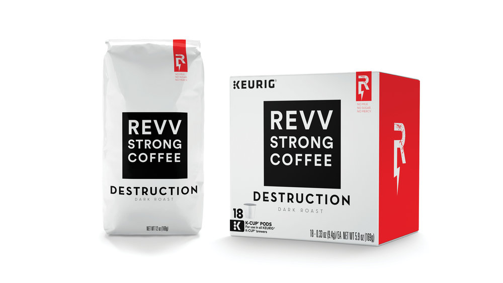 Revv coffee rebrand concept