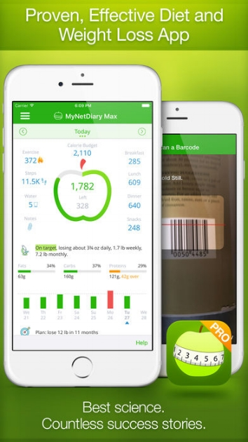 My Net Diary App - A great app that was designed by a registered dietician. You can use for free (or pay for more support) to track you calorie intake, water intake, activity, and weight loss goals.