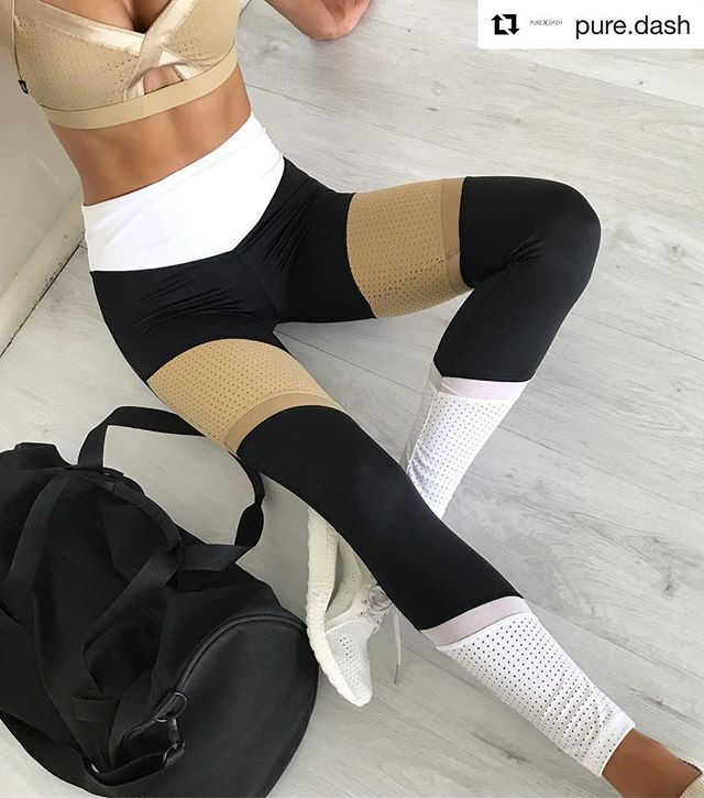 💛 GOLD  Thank you @pure.dash ・・・ Lucky last sizes now online 🙌🏽🖤Race Ready Leggings + Bralette xo