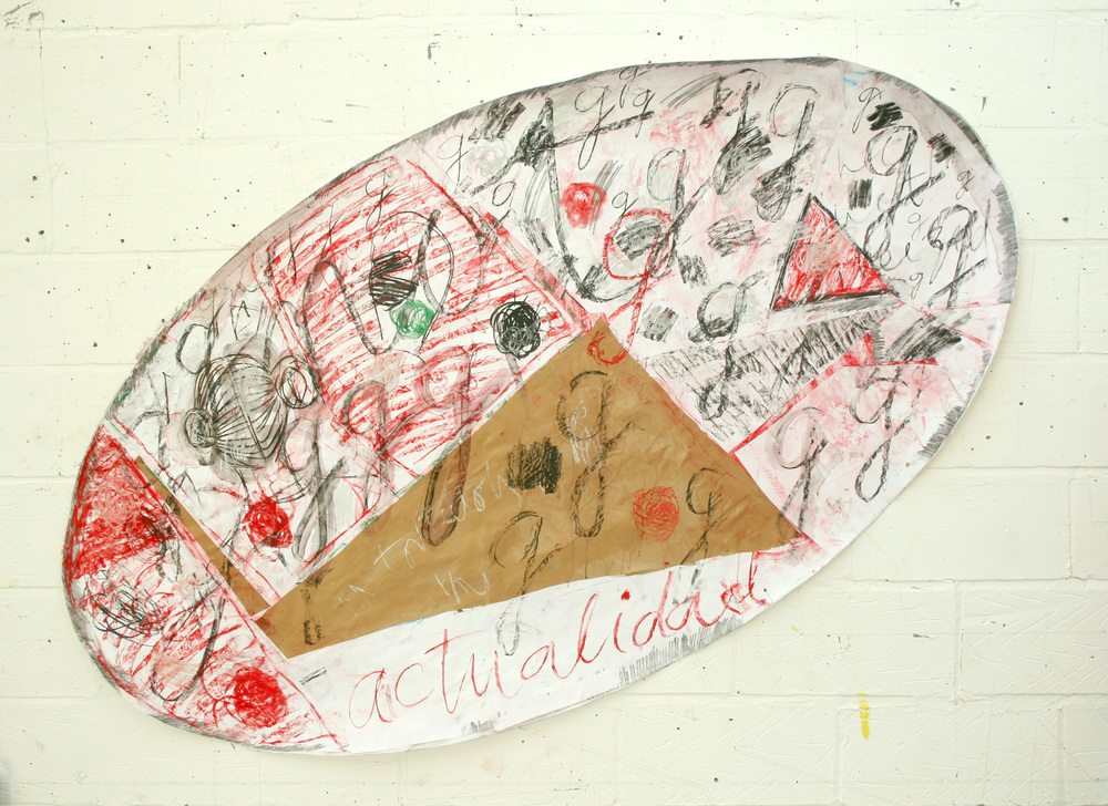 Two paper works (oval, angled shape) March 2011 004.jpg