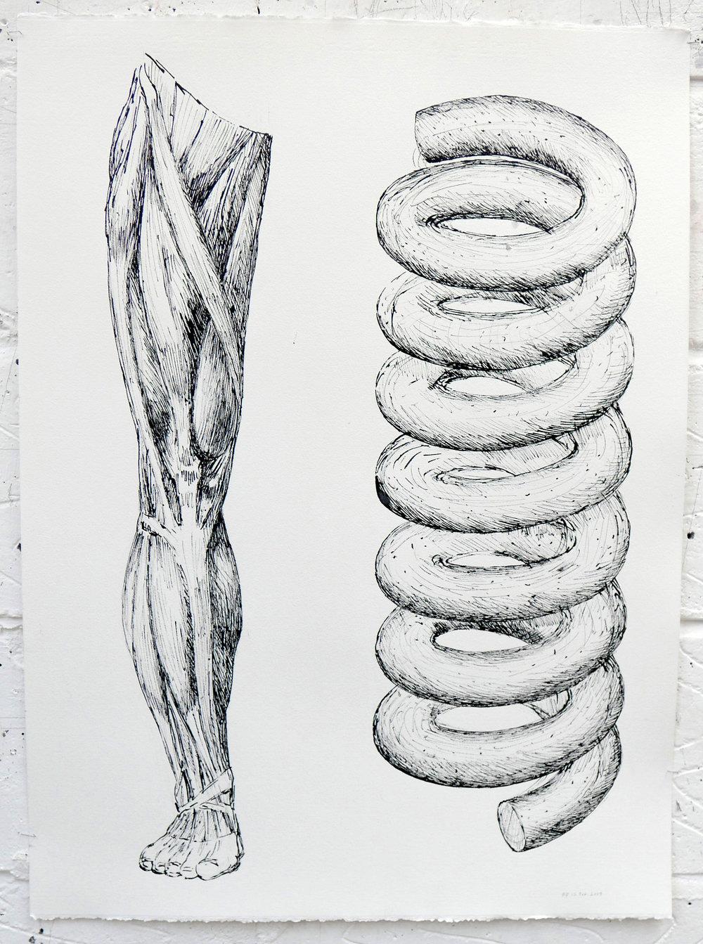 Drawings 2019 Painting 2019 Polythene drawing Plait Spoon 032.JPG
