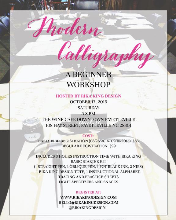 Modern Calligraphy Workshop Registration