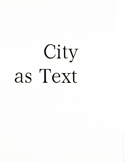 City As Text