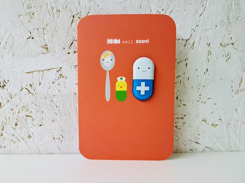 get well soon card magnetic send a box give someone that