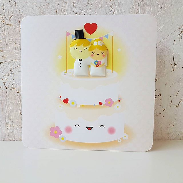 👰🤵🔔Wedding bells 🕭👰🤵 Can't make the wedding ?  Send a card and a box of goodies instead. This card even has a detachable magnetic bride and groom for the fridge 😊 www.sendabox.co