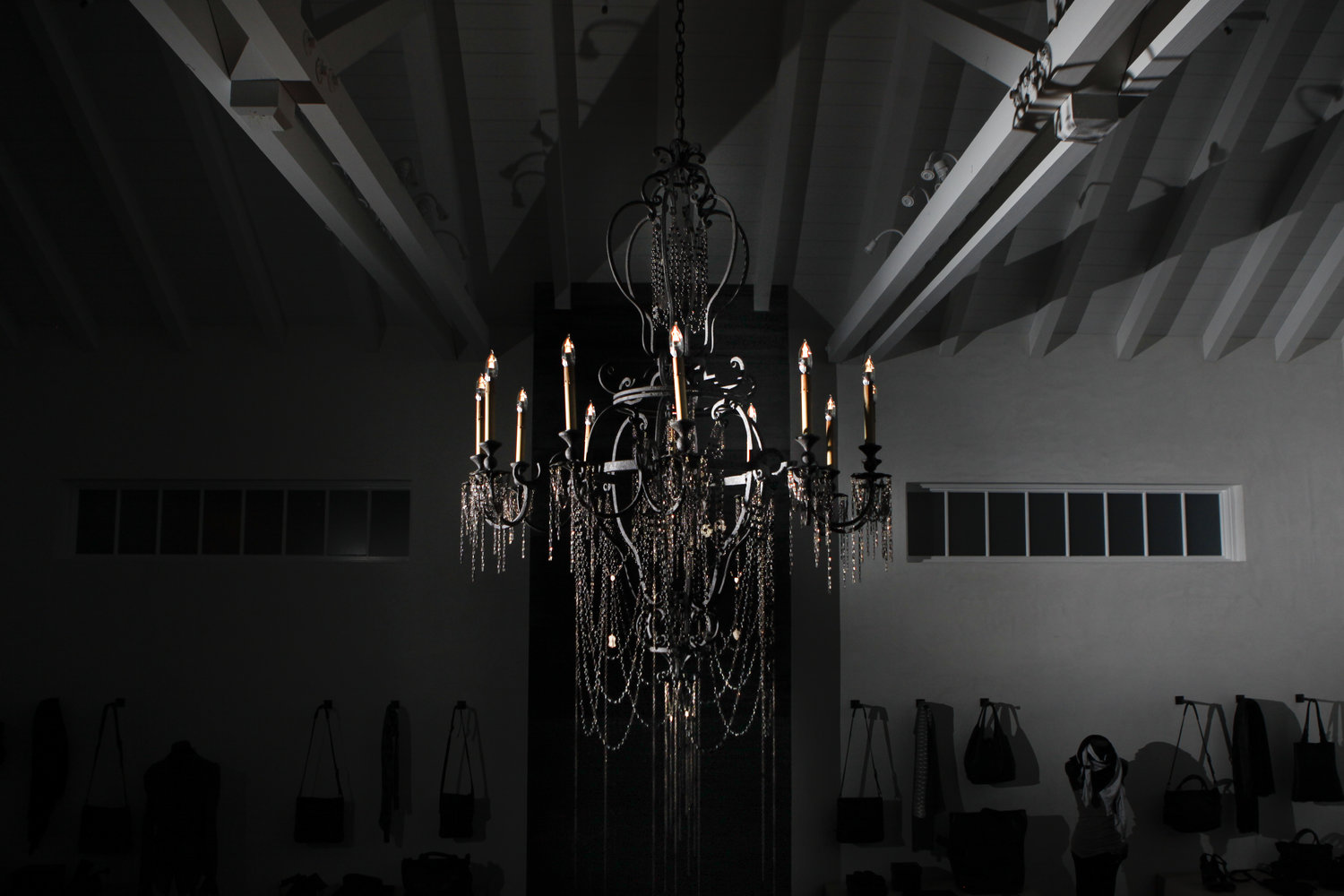 Commissioned lighting handmade jewelry black onyx chandelier arubaitofo Gallery