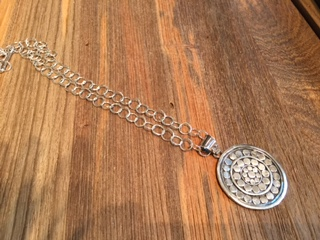 Sterling Silver with Medallion