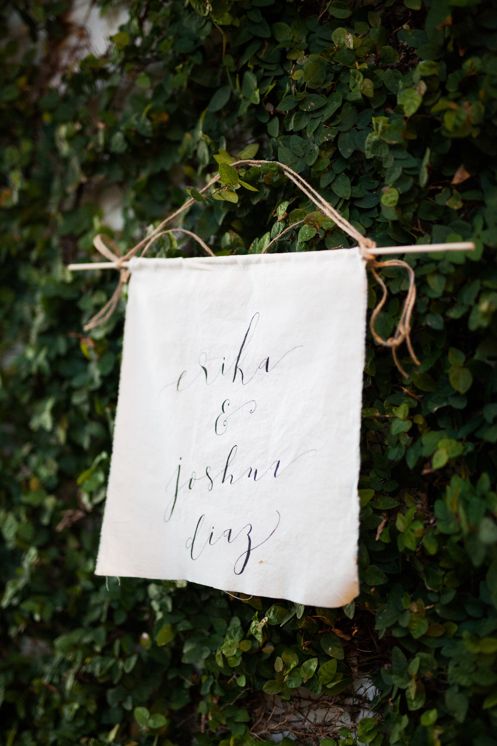 Creeping Ivy Wedding Signage
