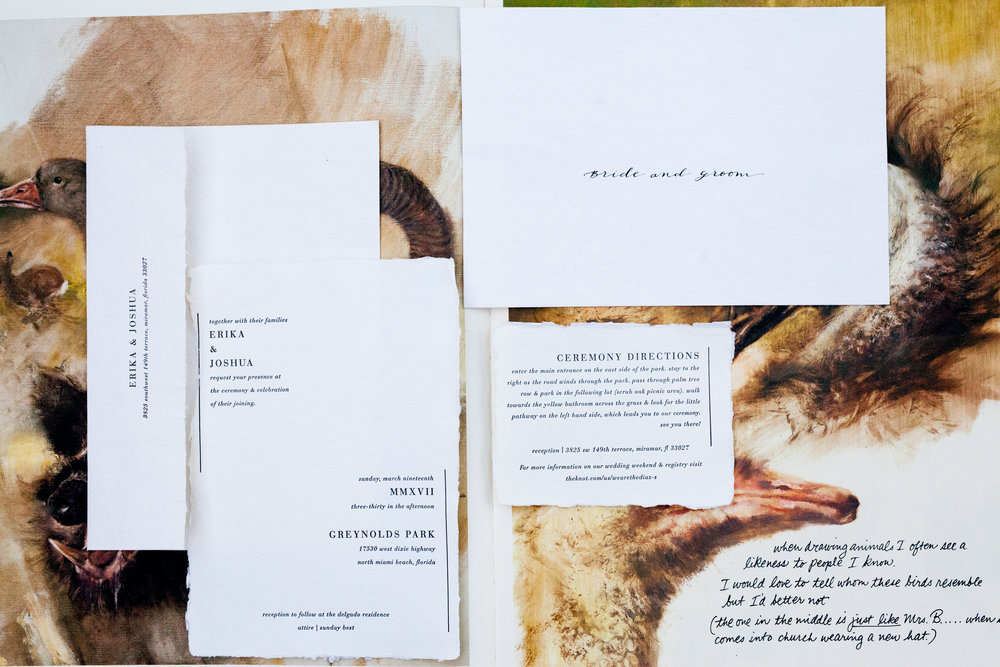 Deckle Edge Invitation Suite