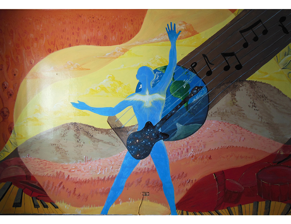 This mural was painted for a Christian music recording studio in Quito.