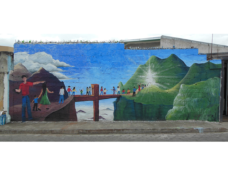 Finished Carmen Bajo church mural.