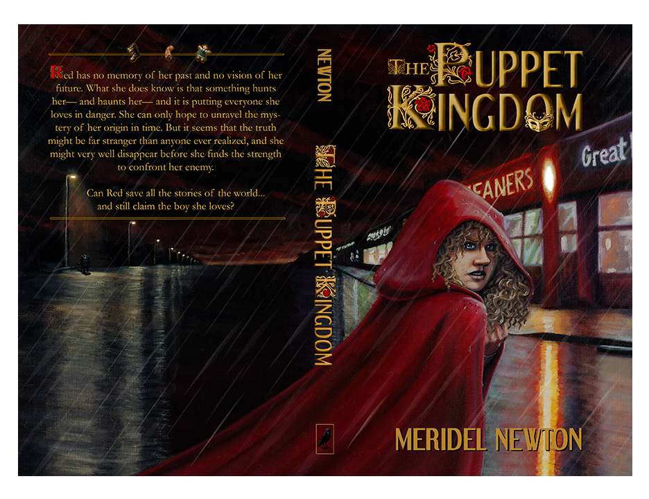 """The finished cover for the independently-published children's book, """"The Puppet Kingdom.""""  Media: Oil on board, Adobe Photoshop."""