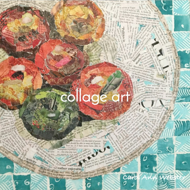 Apples on a plate collage art.jpg