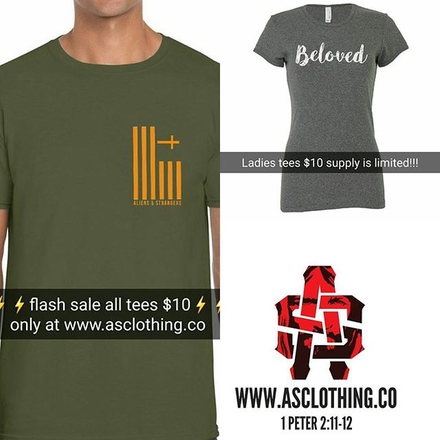 Tees are going fast! Thanks for the overwhelming response! Supply is limited put your order in today! $10 Tee!  www.asclothing.co  #streetwear #missions #support #missionhonduras #flashSale #SpreadLove #beloved #aliensandstrangers #faith
