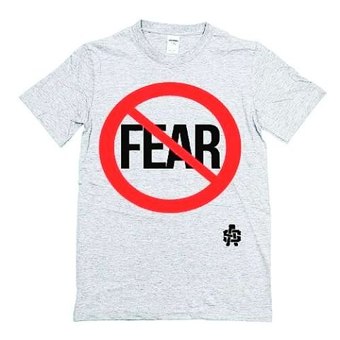 """""""Fear Not"""" Gym grey Tees available! See link in bio. 💪🌍🏋 #fearnot #gymflow #aliensandstrangers  #neverscared #missions"""