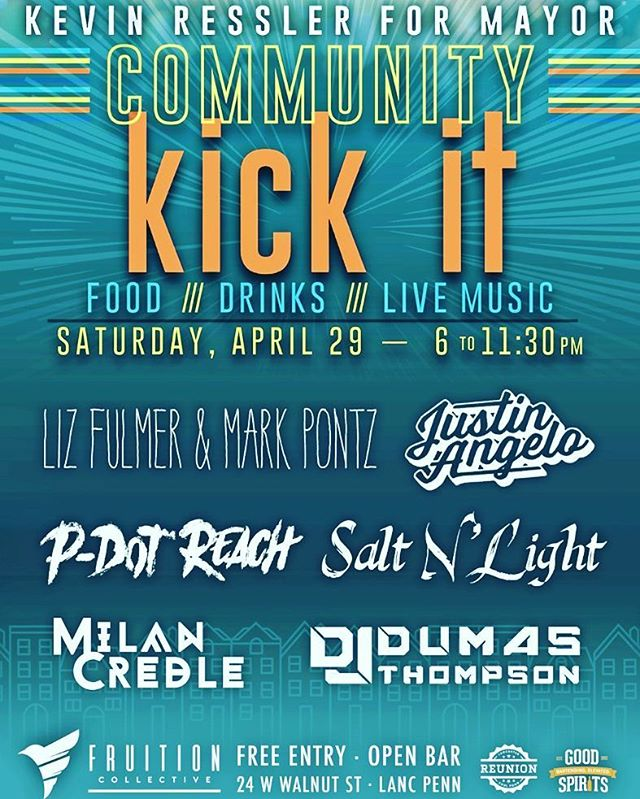 This is an awesome event with very talented people! S/o  @milancredle  and Salt & Light! If you're in Lancaster Pa dont miss this!  #lancaster #goodmusic #vibes