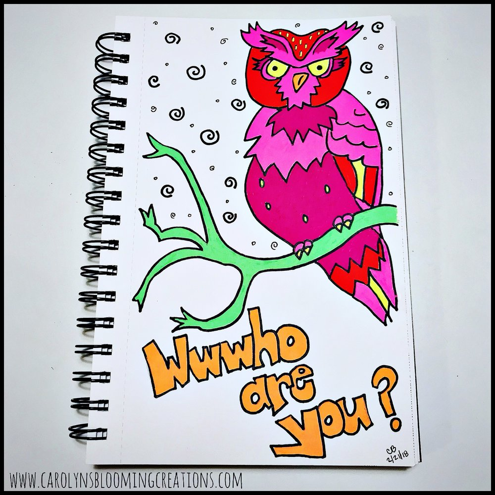 Wwwho Are You? - Sketch by Carolyn J. Braden