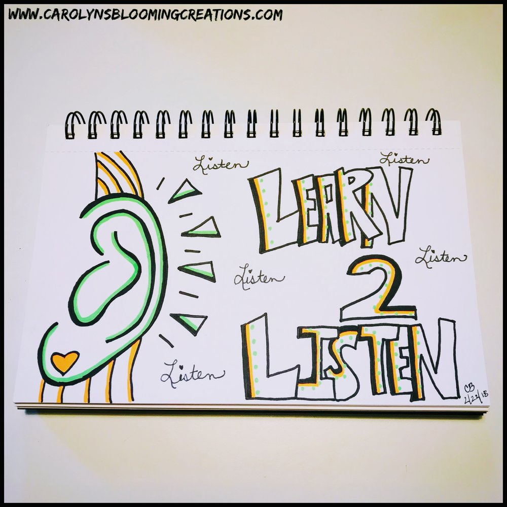Sketch by Carolyn J. Braden-Learn 2 Listen
