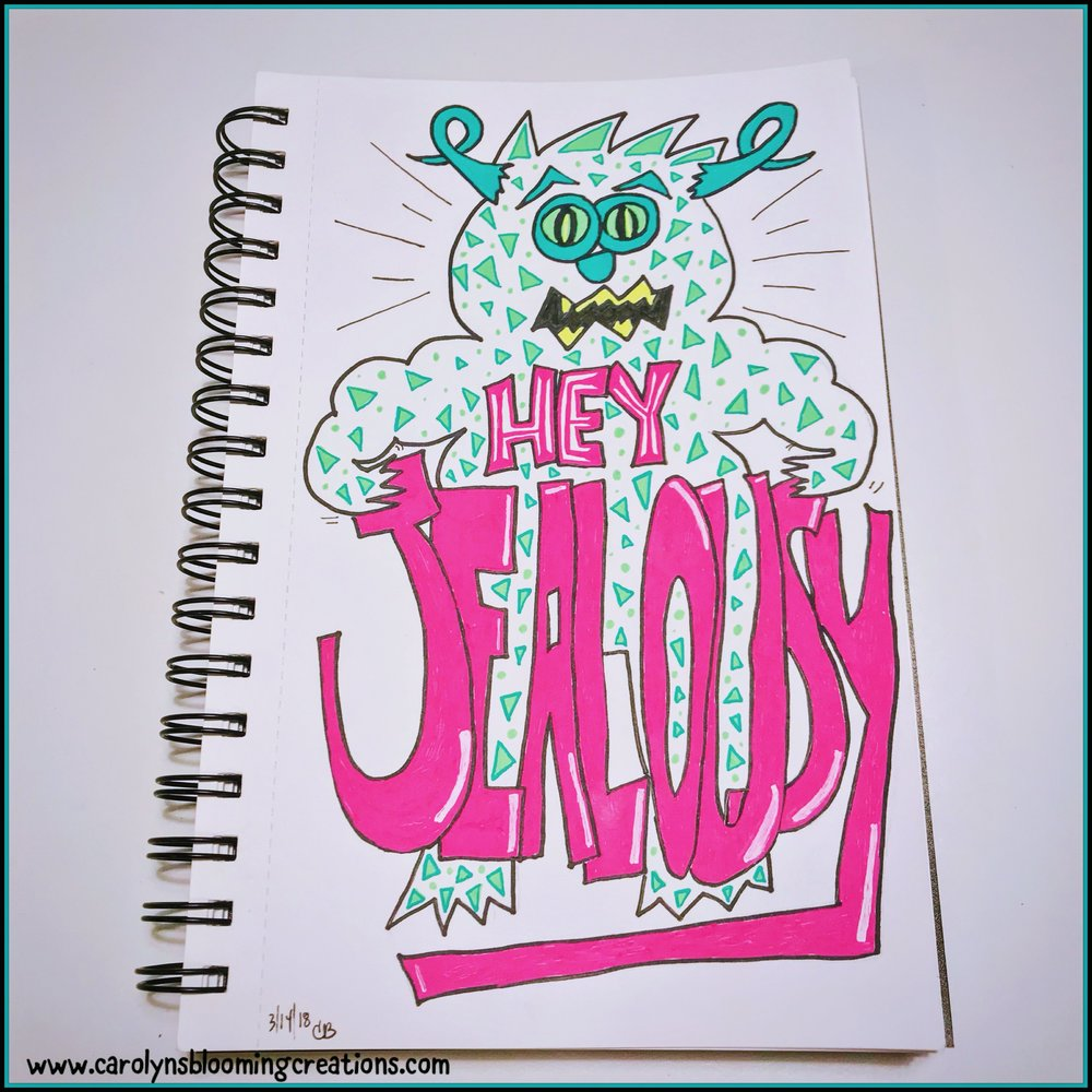 Art by Carolyn J. Braden: Hey Jealousy