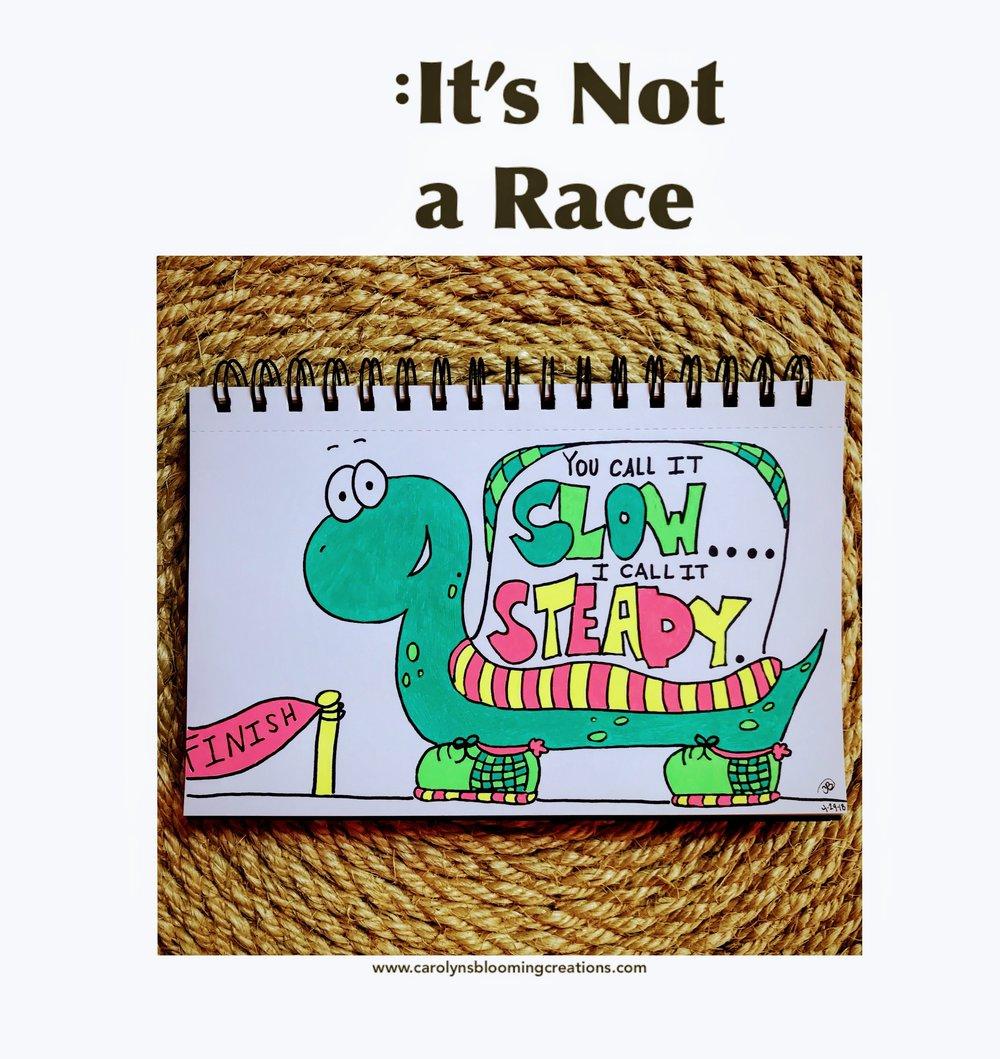 Carolyn Braden It's not a race.JPG