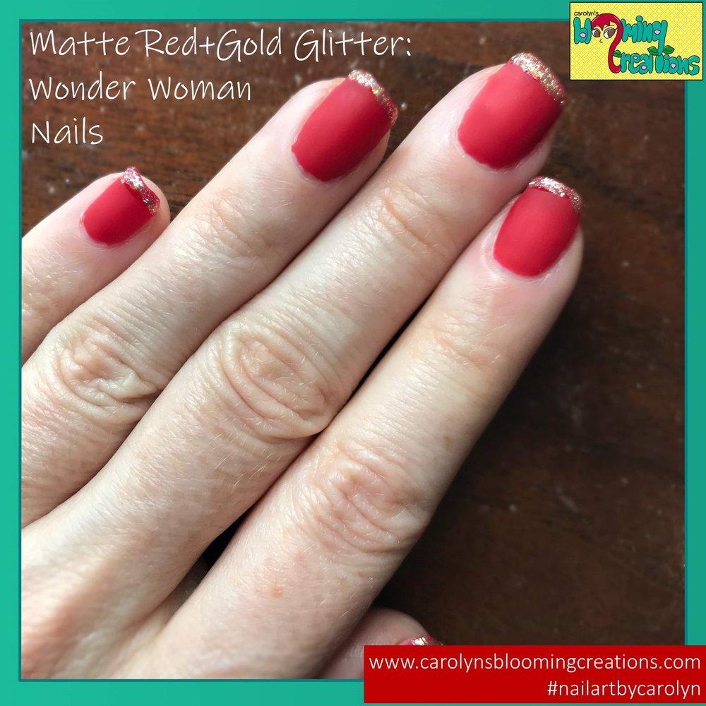 Carolyn Braden Matte RED Wonder Woman Nails.jpg