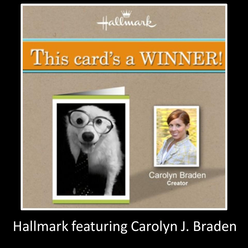 Front of the winning Hallmark card, photography by Carolyn J. Braden