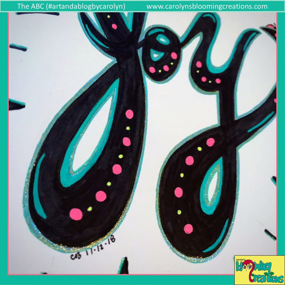 Art detail by Carolyn J. Braden, Media: Sakura Gelly Roll pens, Sharpie marker and BIC pencil.
