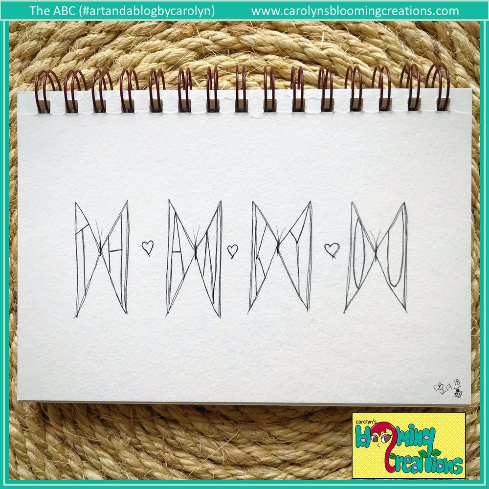 Art by Carolyn J. Braden, Media: Faber Castell PITT pens on paper.