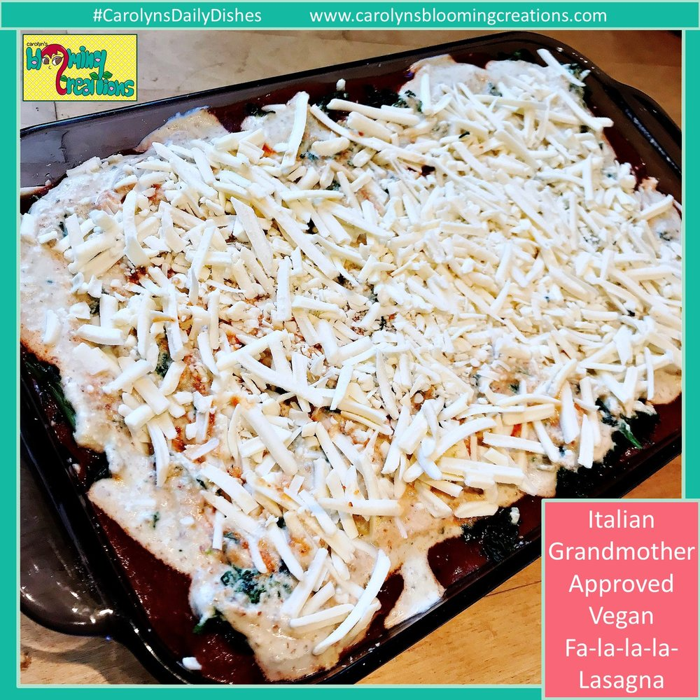 Lasagna, pre-baked. Food preparation and photography by Carolyn J. Braden