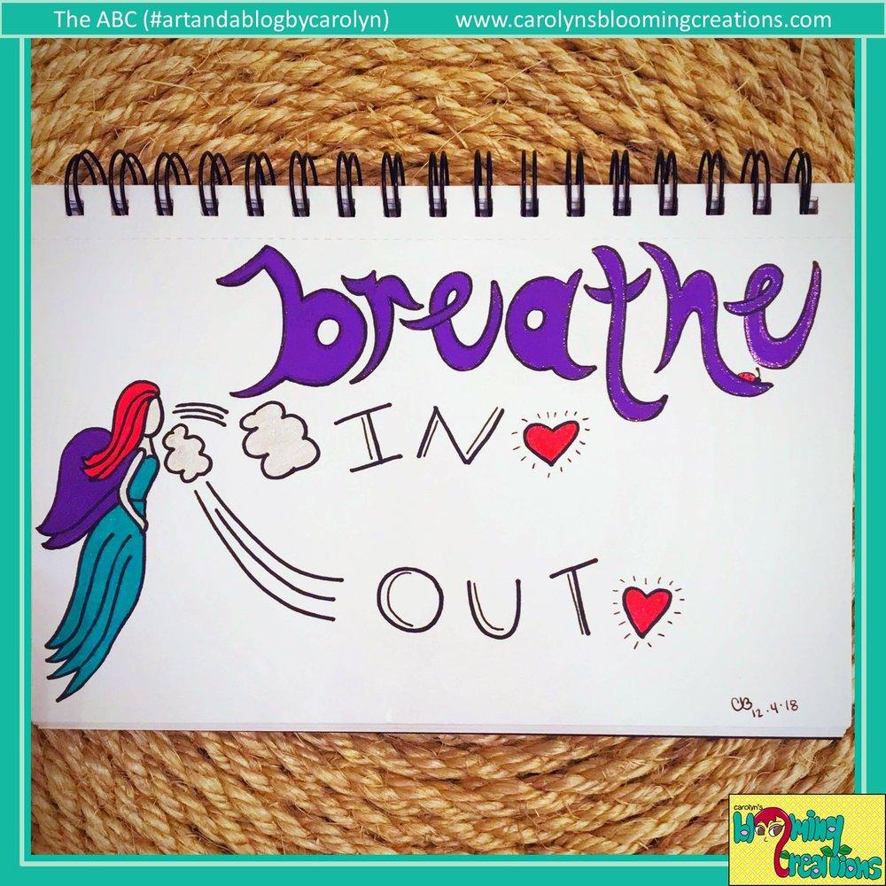 Art by Carolyn J. Braden, Media: Sharpie marker, BIC pencil, Sakura Gelly Roll pens on paper.