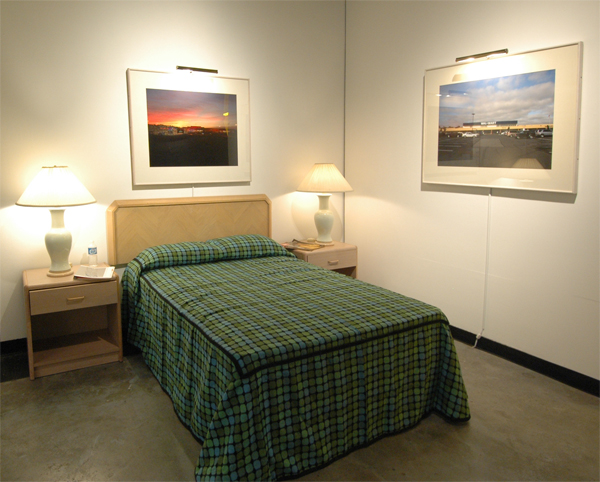 """The Motel Bedroom"", installation"