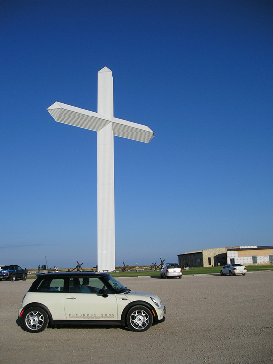 Mini Cooper at The Giant Cross