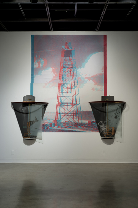 """The Gadget on Tower, 3D"", ""Teller"", ""Fermi"" Installation"