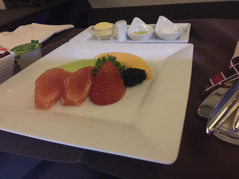 Og slutten på frokosten - som også inkluderte både sashimi og sushi.