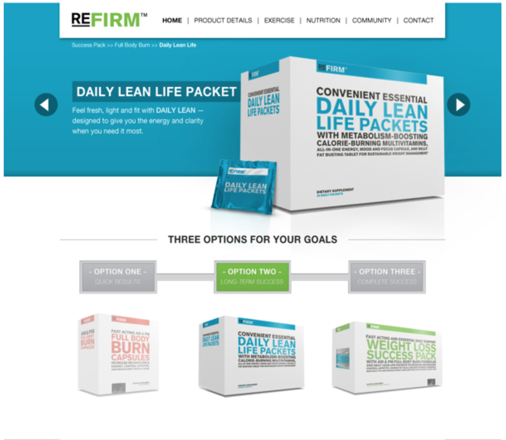 Complete Nutrition's Refirm Website - http://refirm.completenutrition.com/