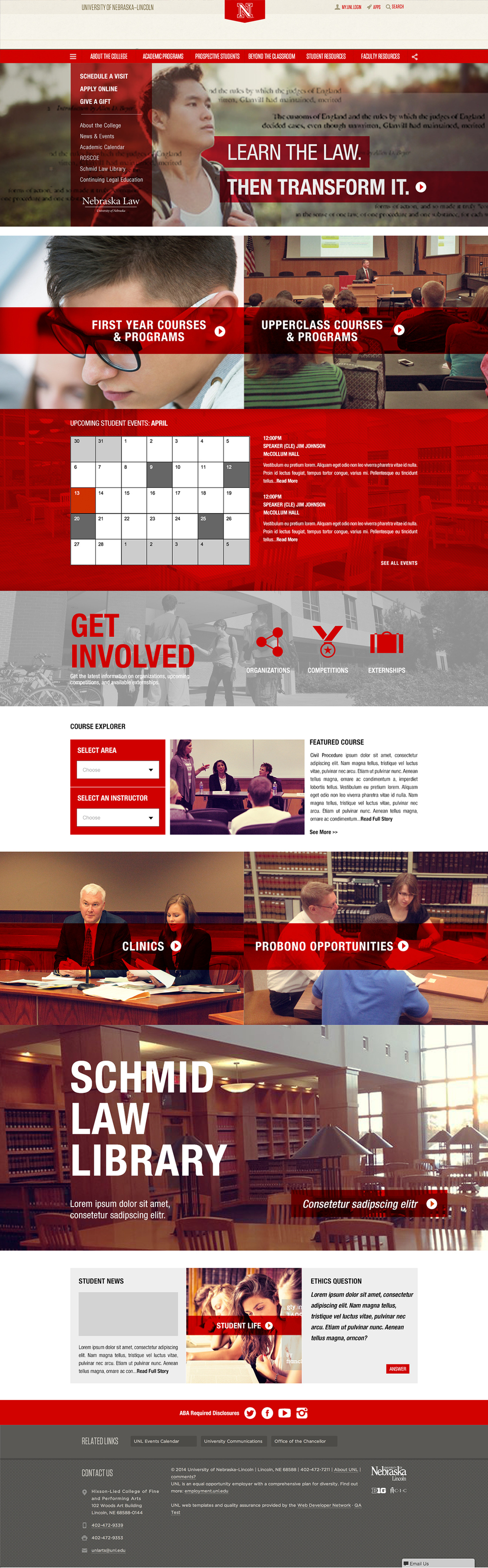 University of Nebraska College of Law Website - law.unl.edu