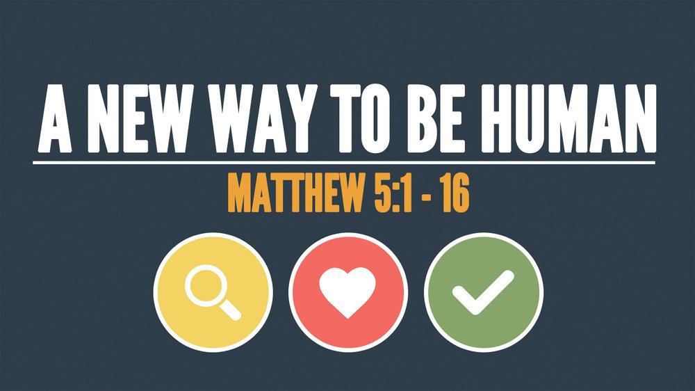 Matthew 5:1 - 16